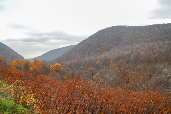 Conemaugh river valley South of Johnstown